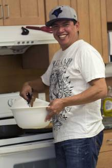 Soup & Bannock days at the Health Centre: Cebo Tom