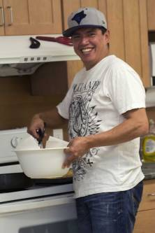 Soup & Bannock days at the Health Centre: Cebo Tom