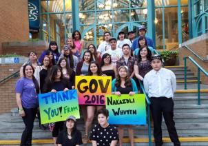 Youth attending GOV