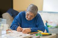 Coloring Day at the Elder's Society